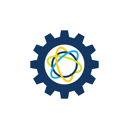 Science Gear Logo Icon Design