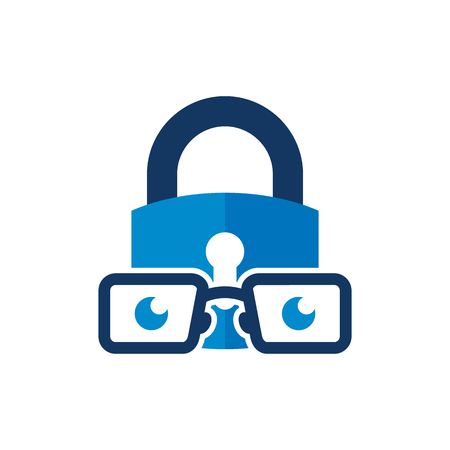 Lock Geek Logo Icon Design