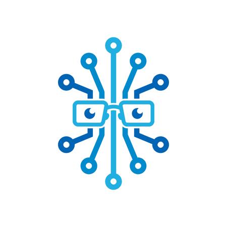 Digital Geek Logo Icon Design