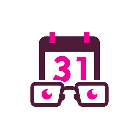 Calendar Geek Logo Icon Design