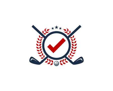 Sign Golf Logo Icon Design