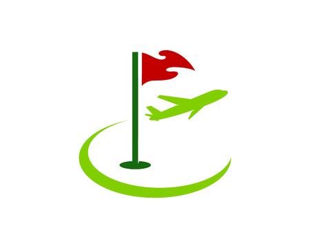 Trip Golf Logo Icon Design