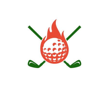 Heat Golf Logo Icon Design