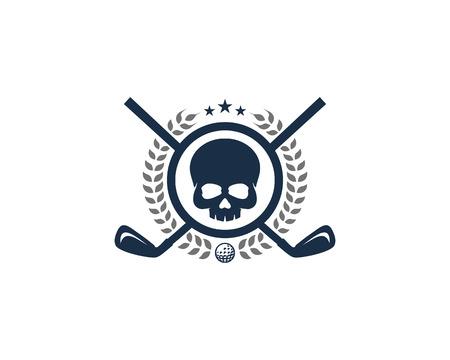 Skull Golf Icon Design Stock Illustratie