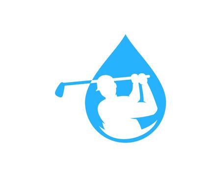 Water Golf Logo Icon Design