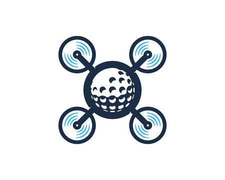 Drone Golf Logo Icon Design