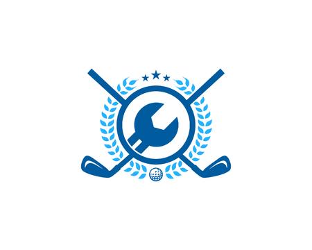 Fix Golf Logo Icon Design Stock Illustratie