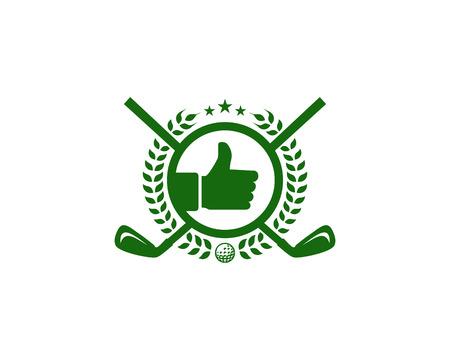 Best Golf Logo Icon Design Illustration