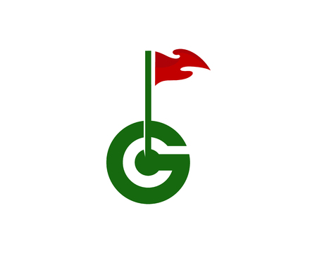 G Letter Golf Logo Icon Design Stock Illustratie