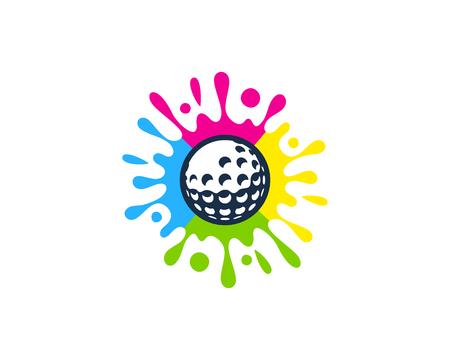 Art Golf Logo Icon Design