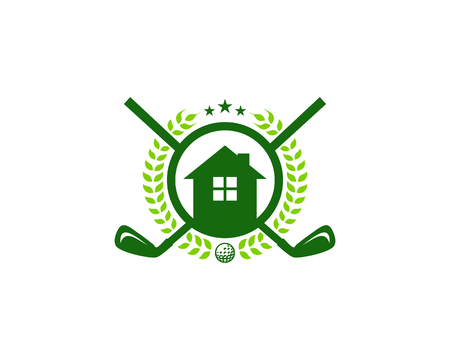 Estate Golf Logo Icon Design 向量圖像