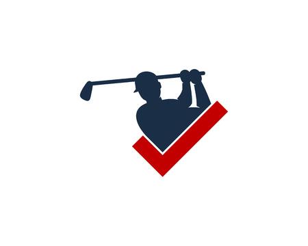 Mark Golf Logo Icon Design Illustration