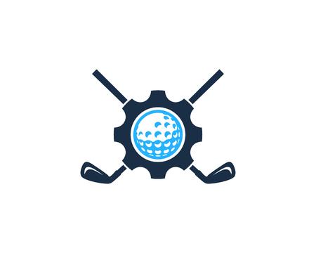Wheel Golf Logo Icon Design