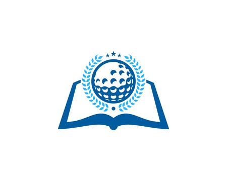 Library Golf Logo Icon Design