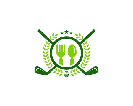 Restaurant Golf Logo Icon Design