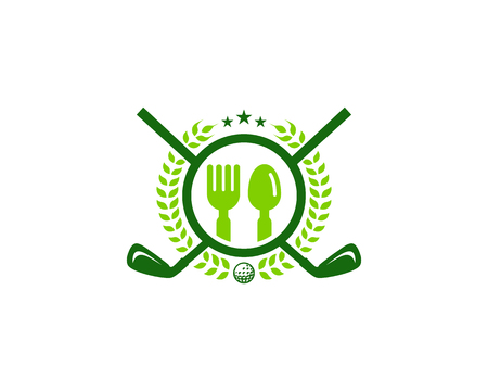 Restaurant Golf Logo Icon Design