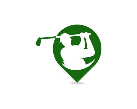 Pin Golf Logo Icon Design