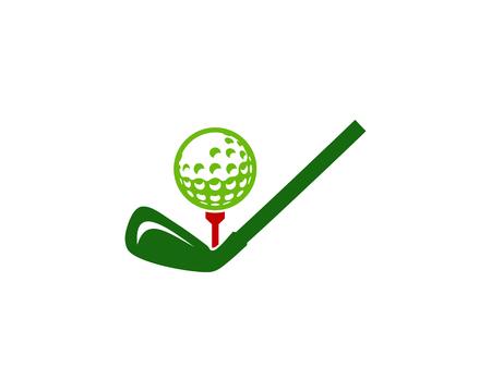 Check Golf Logo Icon Design Stock Illustratie