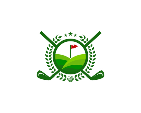 Field Golf Logo Icon Design Фото со стока - 101448767