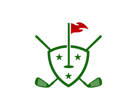 Protection Golf Logo Icon Design