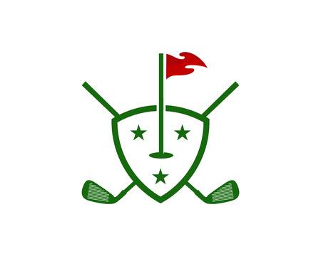 Protection Golf Logo Icon Design