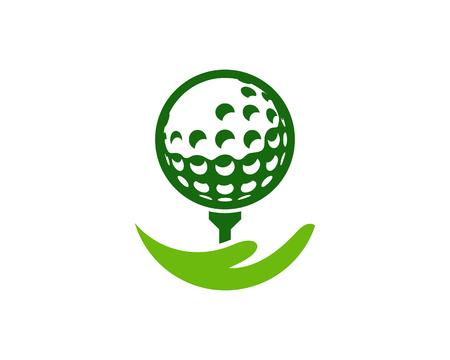 Help Golf Logo Icon Design Ilustração