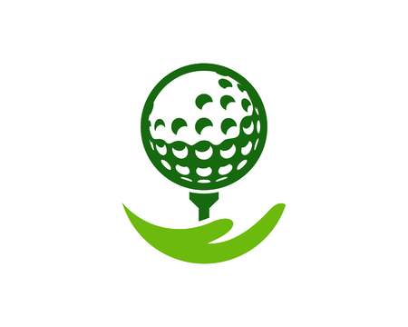 Help Golf Logo Icon Design Illustration