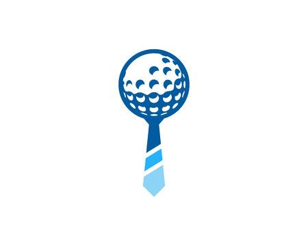 Work Golf Logo Icon Design Stock Illustratie