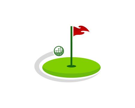Golf embleemontwerp pictogram