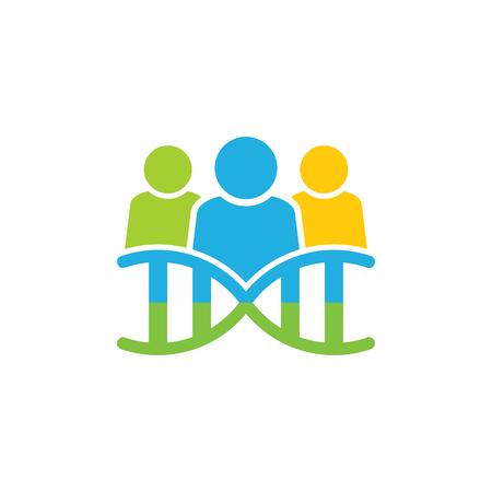 Dna Group Logo Icon Design Illustration