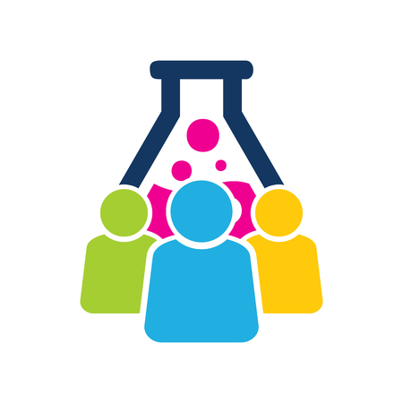 Lab Group Icon Design Vectores