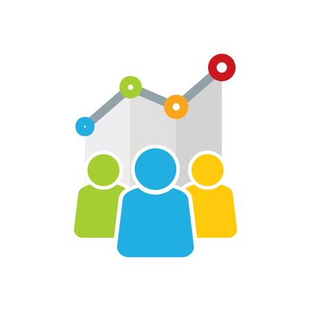 Stats Group Logo Icon Design