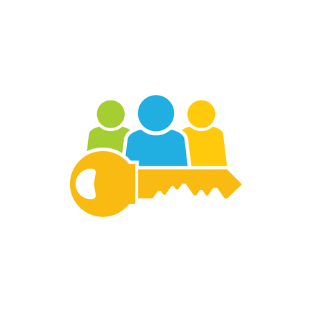 Key Group Logo Icon Design Illustration