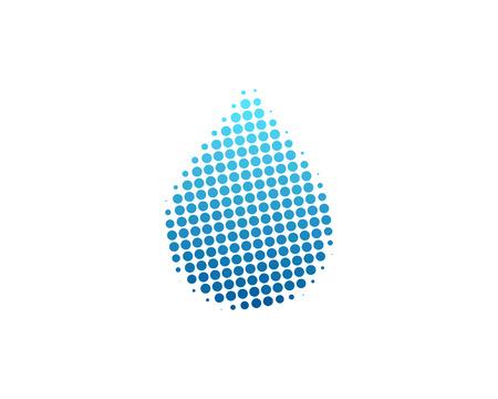 Water Halftone Letter Colorful Dot Logo Icon Design Foto de archivo - 101449624
