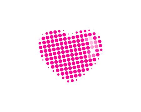 Love Halftone Letter Colorful Dot Logo Icon Design 일러스트