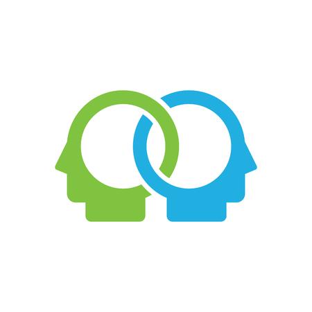 Connect Head Logo Icon Design