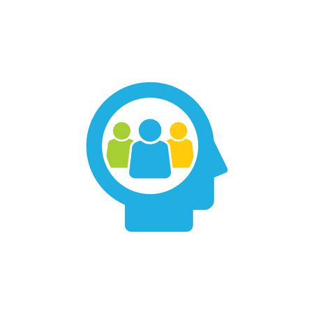 Group Head Logo Icon Design