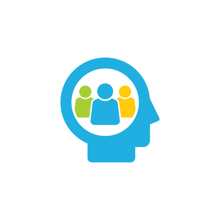 Group Head Logo Icon Design