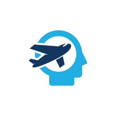 Travel Head Logo Icon Design Archivio Fotografico - 101449795