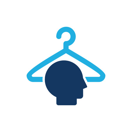 Laundry Head Logo Icon Design  イラスト・ベクター素材