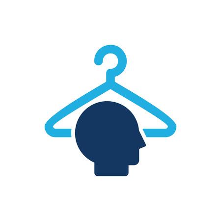 Laundry Head Logo Icon Design Illustration