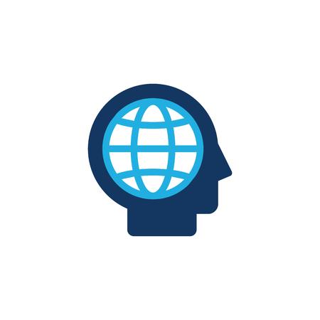 Globe Head Logo Icon Design Archivio Fotografico - 101450037