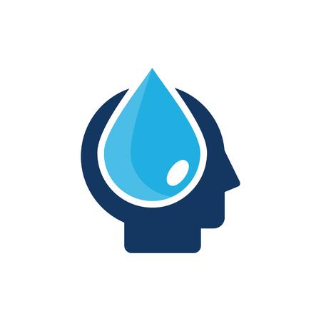 Water Head Logo Icon Design