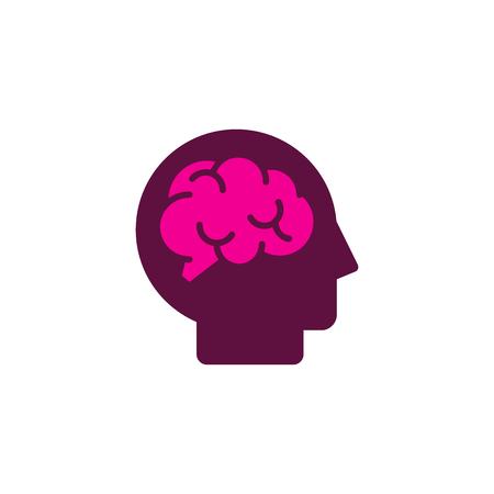 Brain Head Logo Icon Design Stock Vector - 101450244