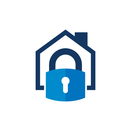Security House Logo Icon Design Stock Vector - 101450390