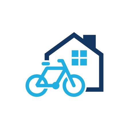 Bike House Logo Icon Design