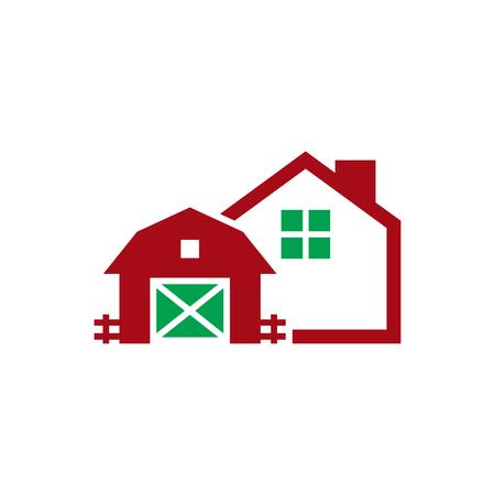 Farm House Logo Icon Design