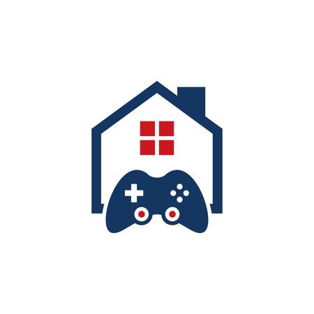 Game House Logo Icon Design Ilustração