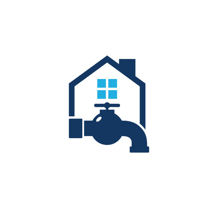 Plumbing House Logo Icon Design