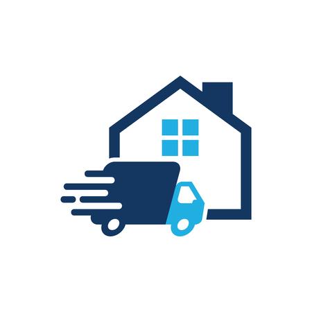Delivery House Logo Icon Design